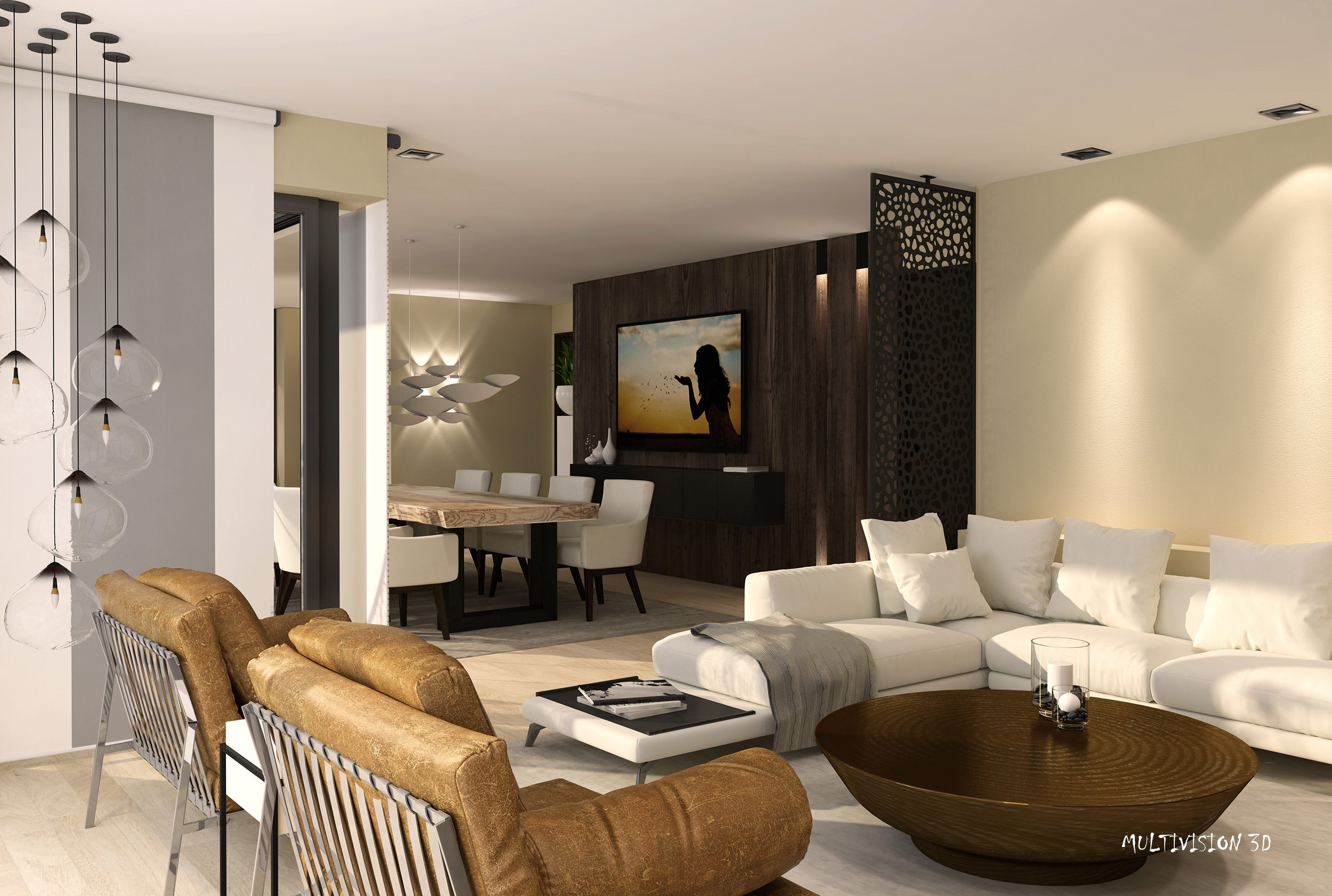 Multivision 3d artist impression interieur project Lier – woonkamer ...