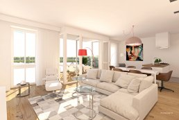 Multivision 3D - De meeris artist impression interieur appartement 12