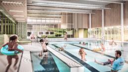 3d visualisatie architectuur Zwembad Tiel interieur doelgroepenbad