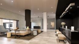 interieur visualisatie - Hotel De Blanke Top - spa met mensen - Lobby