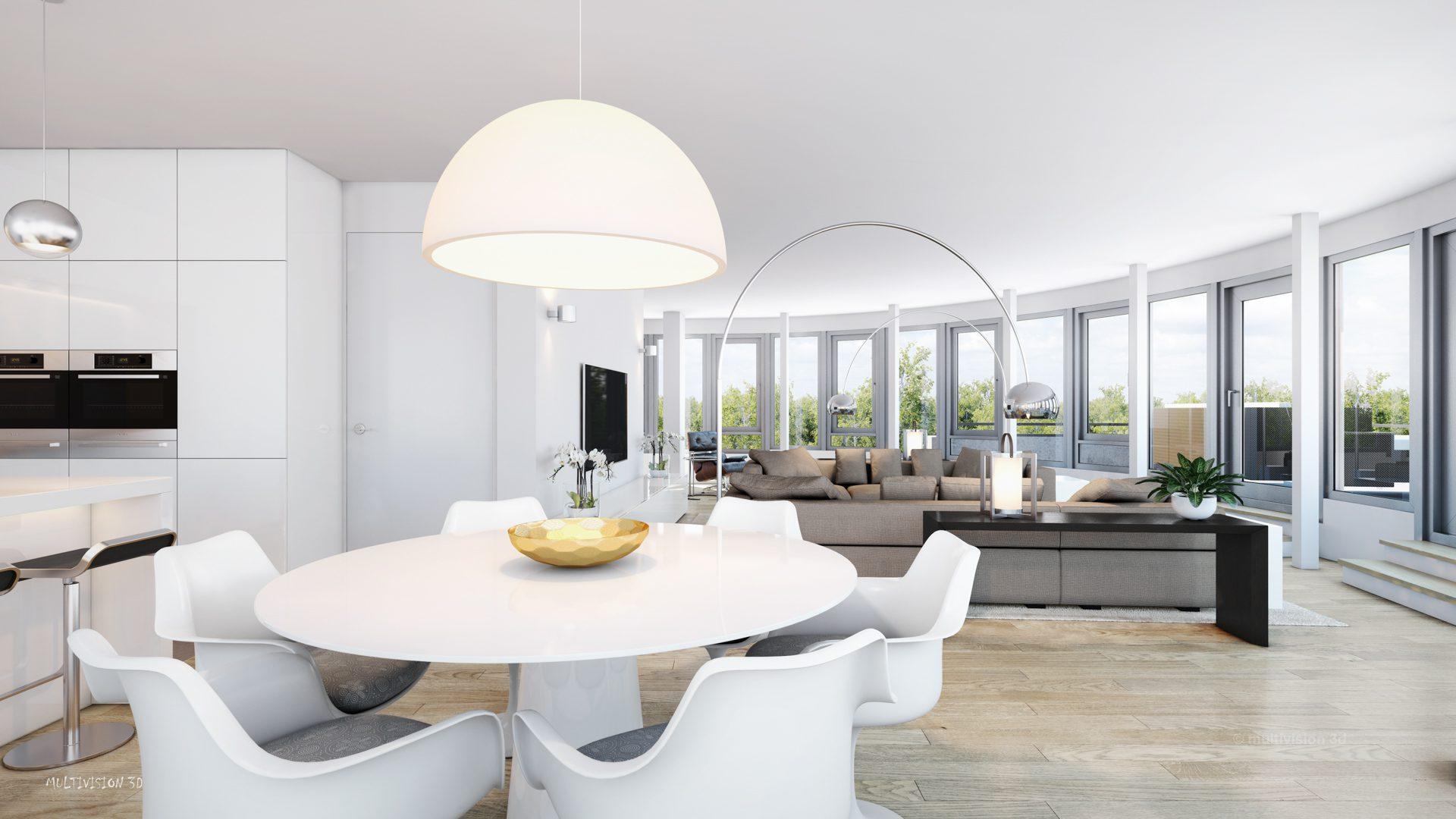 interieur impressie la cour bleue 2 multivision 3d visualisatie. Black Bedroom Furniture Sets. Home Design Ideas
