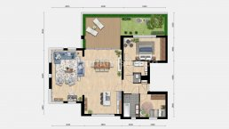 2d plattegrond appartement