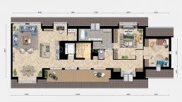 sfeerplattegrond appartement