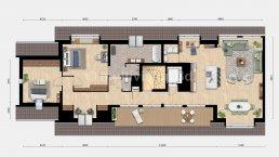 2d sfeerplattegrond appartement