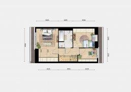 sfeerplattegrond verdieping 1