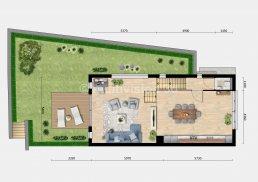 2D plattegrond BG verdieping