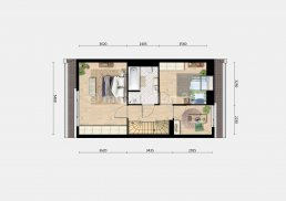 2D plattegrond 1e verdieping