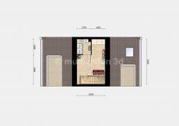 2D plattegrond zolder verdieping