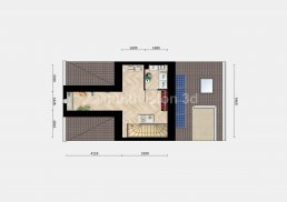 2D plattegrond tweede verdieping