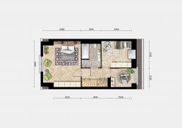 2D plattegrond eerste verdieping