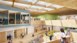 3d architectuur visualisatie school interieur - gewonnen tender