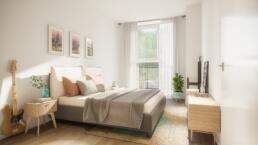 3D Visualisatie - slaapkamer