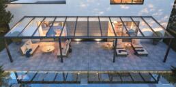 3D Visualisatie - terrasoverkapping